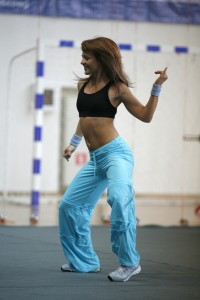 helathy woman dancing